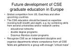 future development of cse graduate education in europe