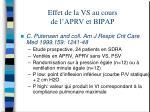 effet de la vs au cours de l aprv et bipap2