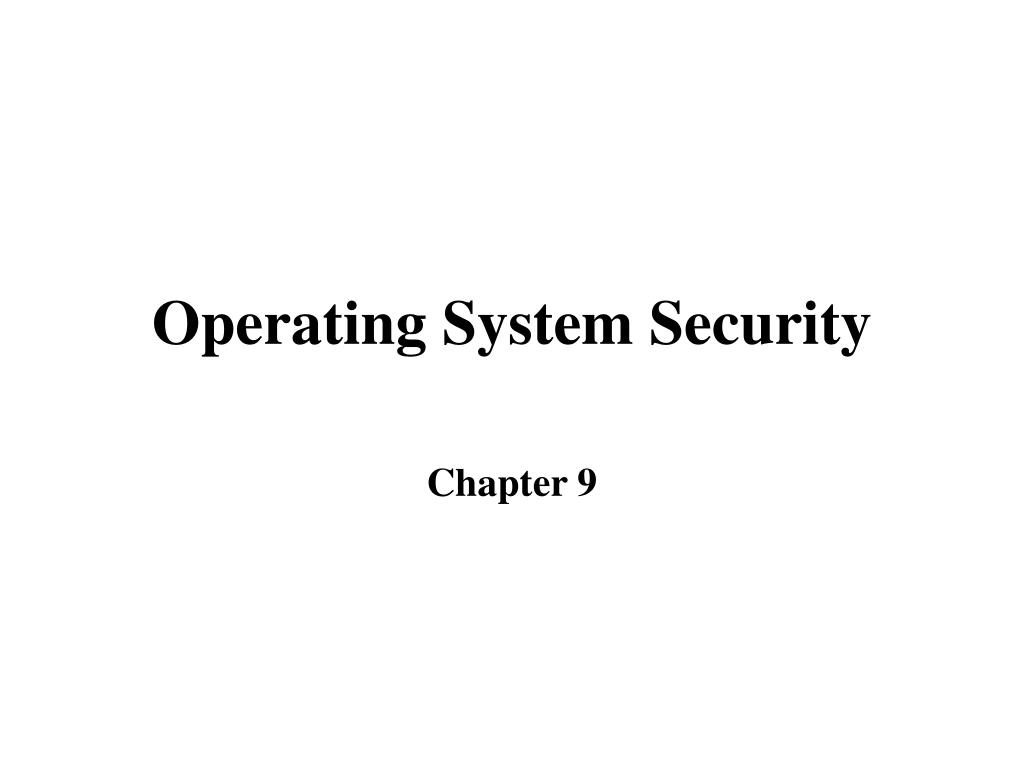 operating system security l.