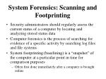 system forensics scanning and footprinting