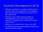 economic development cont d