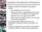 seguridad y procedimientos de emergencia1