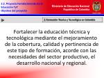 2 2 proyecto fortalecimiento de la educaci n tyt objetivo del proyecto