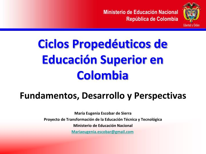 ciclos proped uticos de educaci n superior en colombia n.