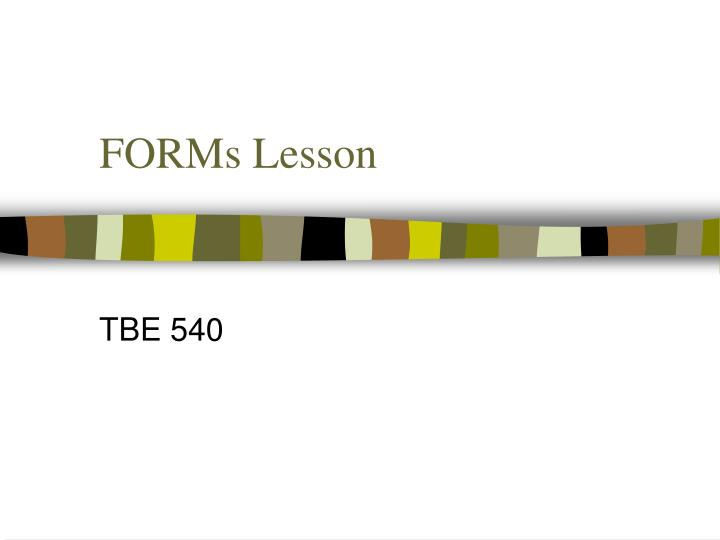 forms lesson n.