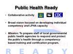 public health ready