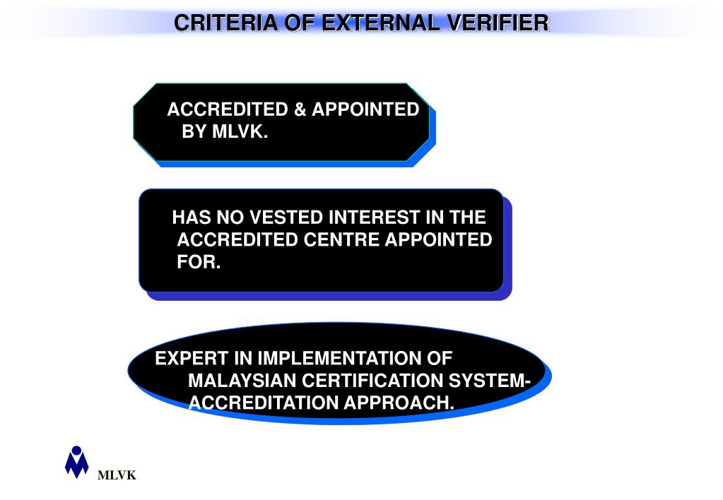 ACCREDITED & APPOINTED BY MLVK.