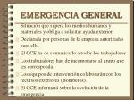 emergencia general