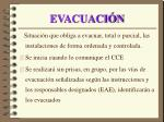 evacuaci n
