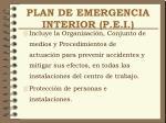 plan de emergencia interior p e i