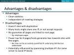 advantages disadvantages2