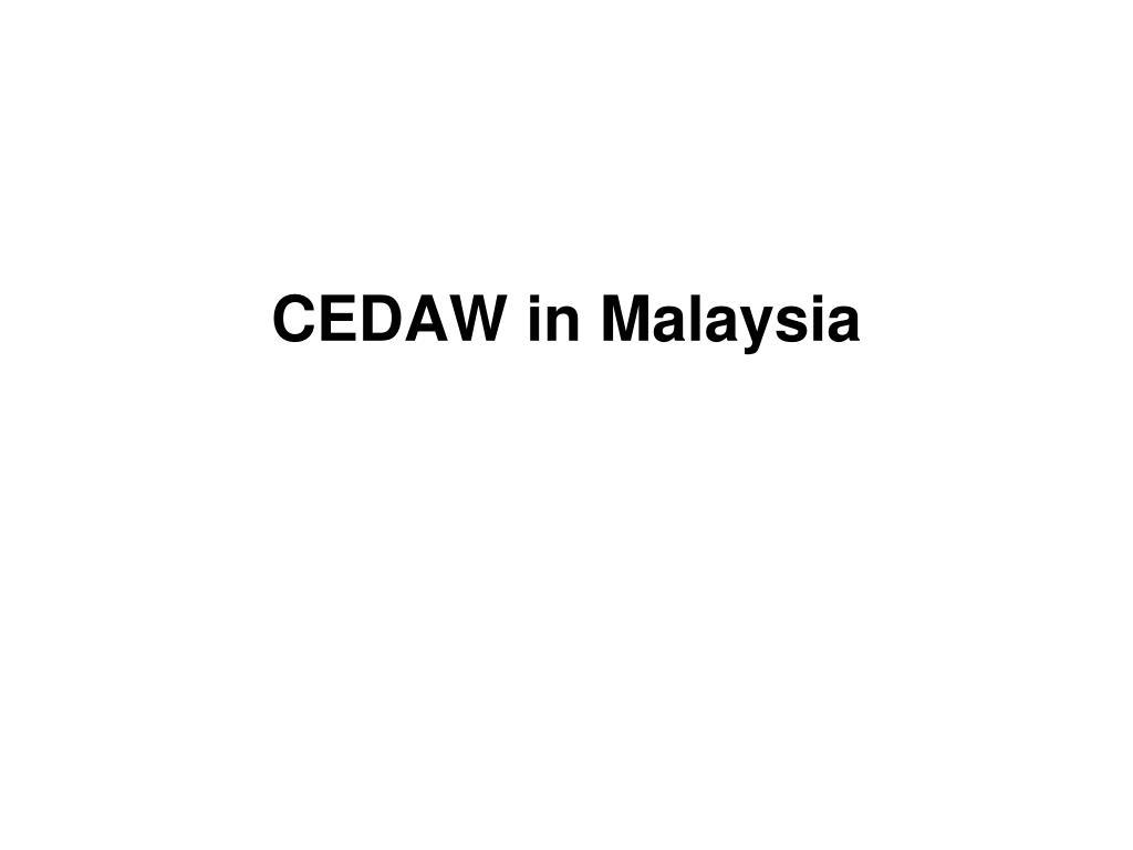 cedaw in malaysia l.