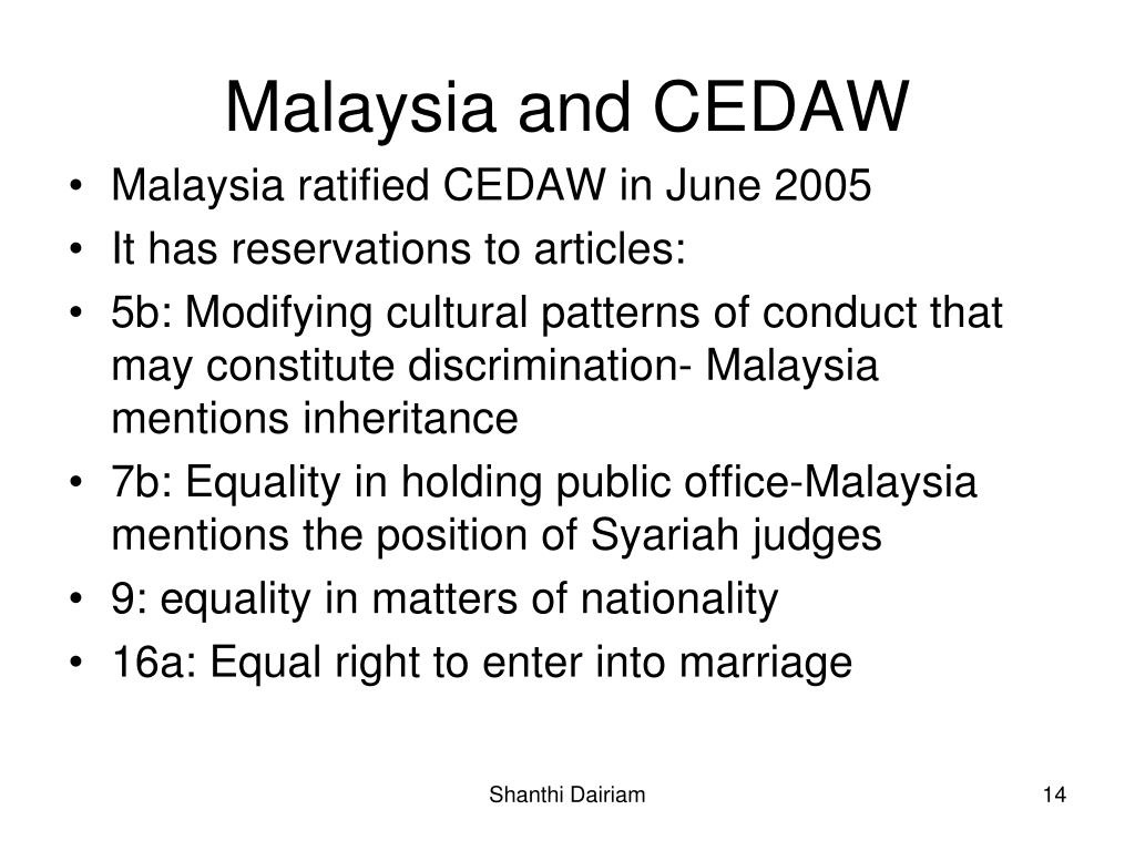 Malaysia and CEDAW