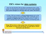ese s vision for data systems