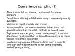 convenience sampling 1