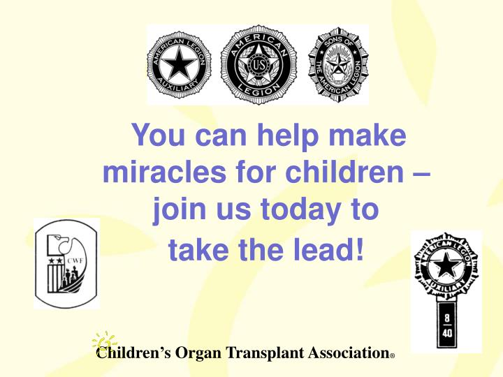 You can help make miracles for children – join us today to