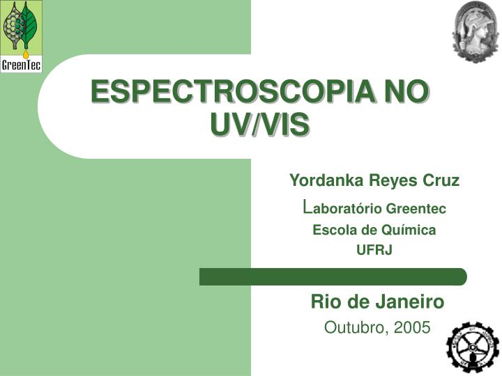 Espectroscopia no uv vis