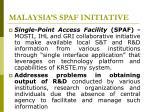 malaysia s spaf initiative