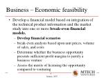 business economic feasibility