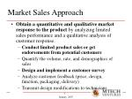 market sales approach