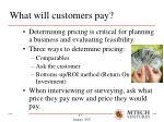 what will customers pay