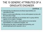the 10 generic attributes of a graduate engineer68