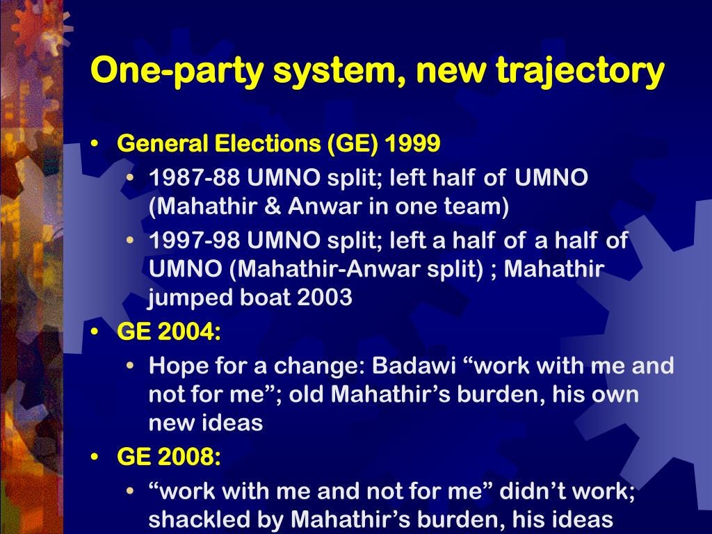 One-party system, new trajectory