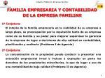familia empresaria y contabilidad de la empresa familiar