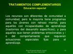 tratamientos complementarios educaci n especial1