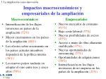 impactos macroecon micos y empresariales de la ampliaci n