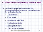1 2 performing an engineering economy study