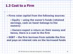 1 3 cost to a firm