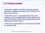 1 3 costing capital