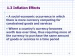 1 3 inflation effects