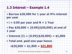 1 3 interest example 1 4