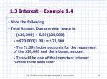 1 3 interest example 1 41