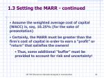 1 3 setting the marr continued