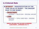 1 4 interest rate