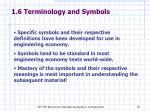 1 6 terminology and symbols