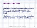 section 1 3 cash flows
