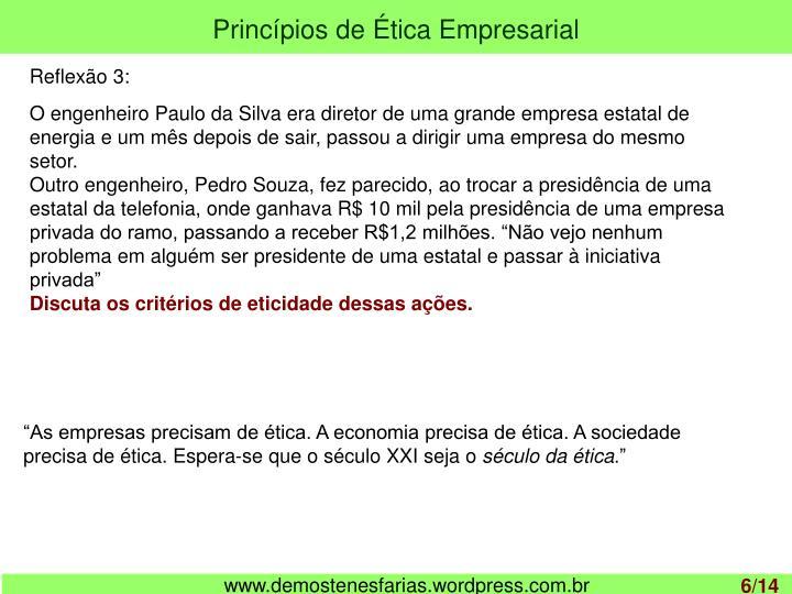 Princípios de Ética Empresarial