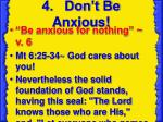 4 don t be anxious