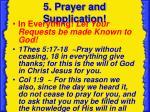 5 prayer and supplication