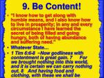 9 be content