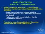 asme constitution article c4 1 12 indemnification