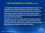 ten fundamental canons cont d1