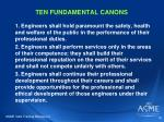 ten fundamental canons