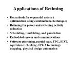 applications of retiming