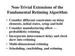 non trivial extensions of the fundamental retiming algorithm