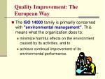 quality improvement the european way1